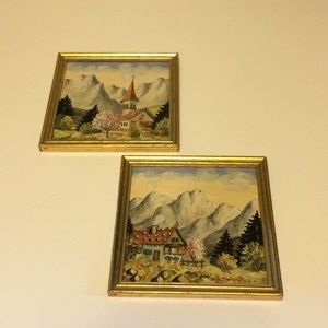 Two small Kleinkunst oil paintings